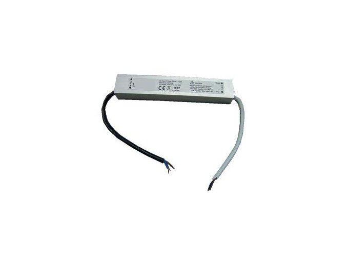 Napájecí zdroj 12V pro LED pásky 30W  12V DC  2.5A  externí - IP67
