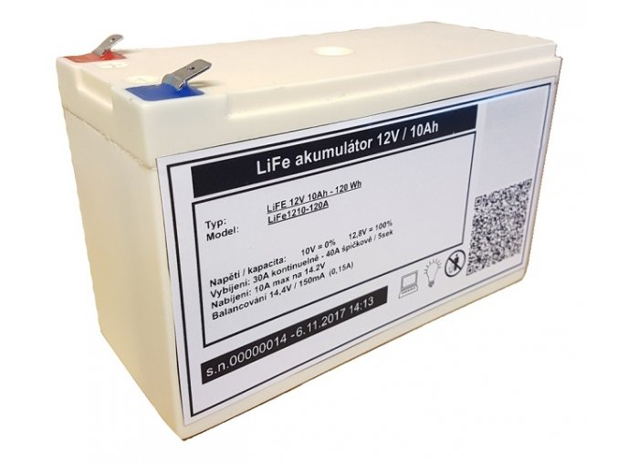 lifepo4 lithium baterie mhpower 12v 10ah life1210 120a i35893