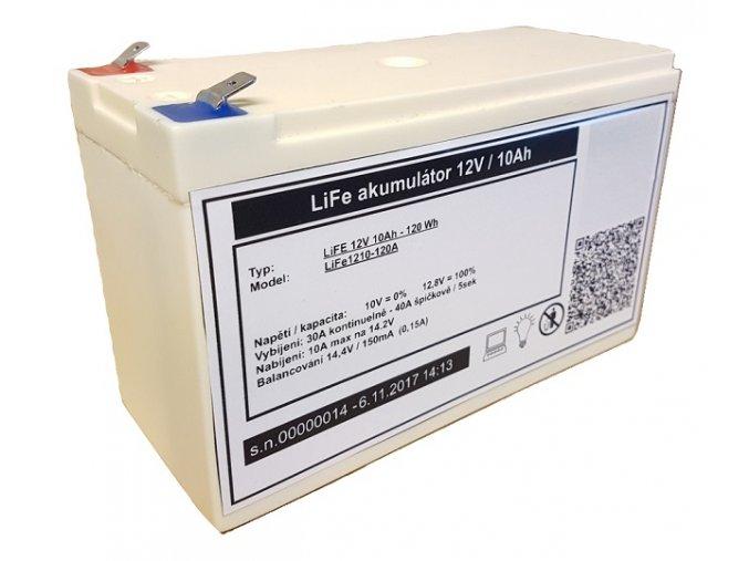lifepo4 lithium baterie mhpower 12v 10ah life1210 120a i35893