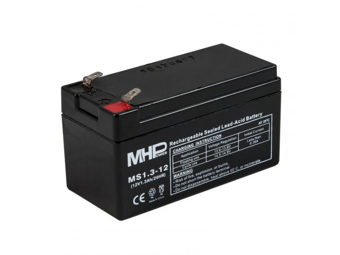 pb akumulator mhpower vrla agm 12v 1 3ah ms1 3 12 faston f1 4 8 mm i34261