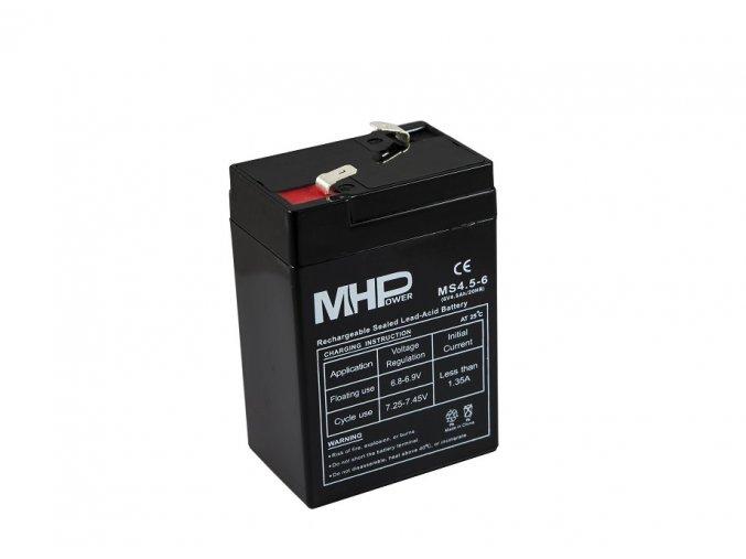 mhpower ms4 5 6 oloveny akumulator agm 6v 4 5ah faston f1 4 8mm i35598