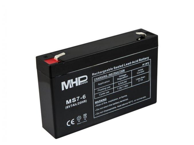 mhpower ms7 6 oloveny akumulator agm 6v 7ah faston f2 6 3mm i35590