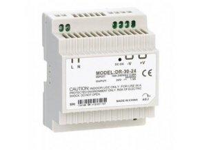 Průmyslový zdroj CARSPA DR-30-24 na DIN lištu 30W, 24V