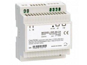 Průmyslový zdroj CARSPA DR-60-24 na DIN lištu 60W, 24V