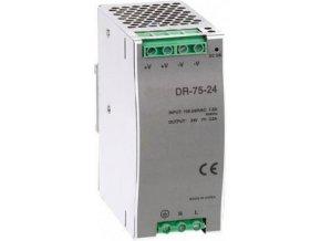 Průmyslový zdroj CARSPA DR-75-24 na DIN lištu 75W, 24V