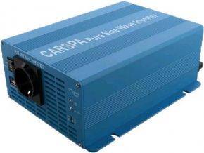 Měnič napětí Carspa SK1000UR-122, 12V/230V+USB 1000W, čistá sinus, dálkové ovládání