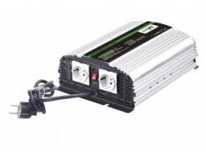 Měnič napětí Carspa CPS1000-12 12V/230V 1000W, čistá sinus, s nabíječkou 12V/10A a funkcí UPS