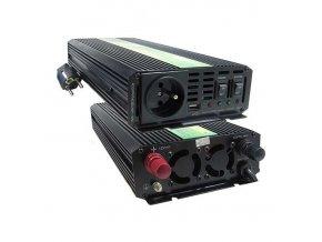 Měnič napětí Carspa UPS1000-122 12V/230V 1000W s nabíječkou 12V/10A a funkcí UPS