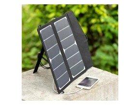 Fotovoltaický solární přenosný set 2x7W USB