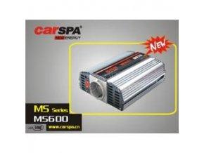 Měnič napětí Carspa MS600-122 12V/230V+USB 600W, modifikovaná sinus