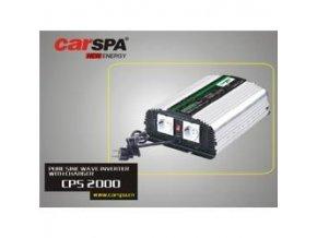 Měnič napětí Carspa CPS2000-242 24V/230V 2000W, čistá sinus, s nabíječkou 24V/8A a funkcí UPS
