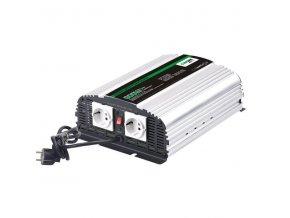 Měnič napětí Carspa CPS600-24 24V/230V 600W, čistá sinus, s nabíječkou 24V/5A a funkcí UPS