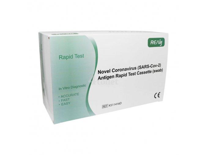 25 ks Antigenní výtěrový test na COVID-19 REALY TECH