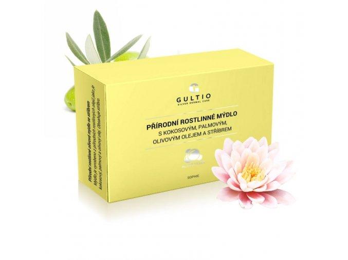 prirodni rostlinne mydlo s kokosovym palmovym olivovym olejem a stribrem vune magnolie lotusu a pivonky (1)