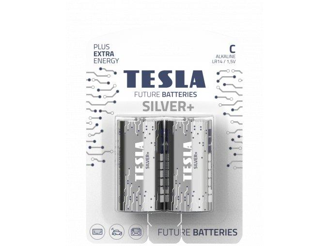 TESLA SILVER+ C blister 2 transparent