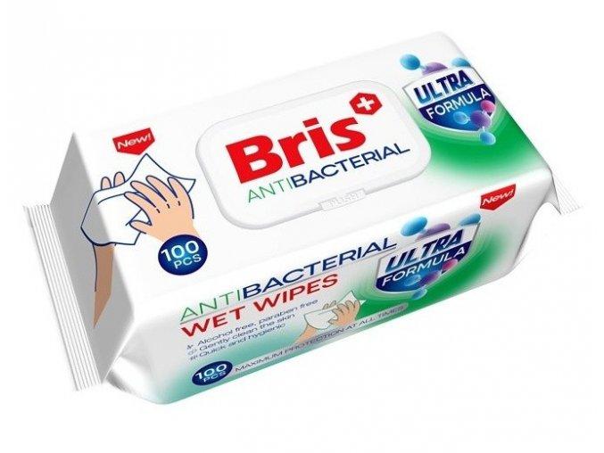 9395 bris vlhcene antibakterialni ubrousky 100ks nove