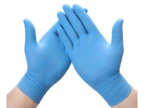 Jednorázové nitrilové vyšetřovací rukavice modré, síla 4g - 100ks, vel. M, L