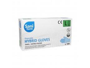 Jednorázové V-Nitrilové rukavice 100 ks, vel. M, L