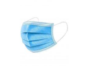 Rúško na tvár jednorazové 3-vrstvové modré, balenie 50 ks