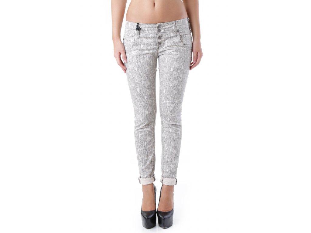 Béžové kalhoty SEXY WOMAN [J2688]