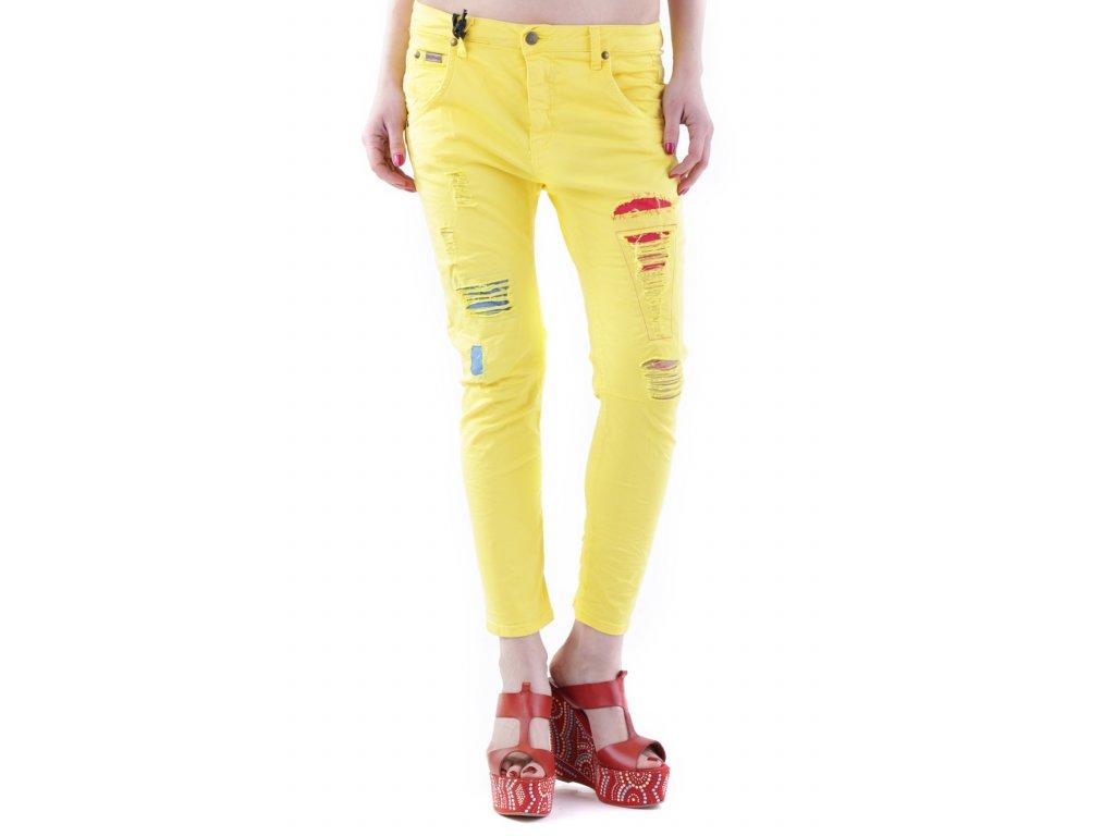 Žluté kalhoty SEXY WOMAN [J2490]
