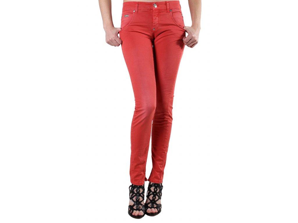 Červené kalhoty SEXY WOMAN [J3985A]