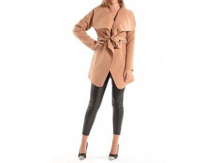 Trenčkot/kabátek ve velbloudí barvě na zavázání v pase