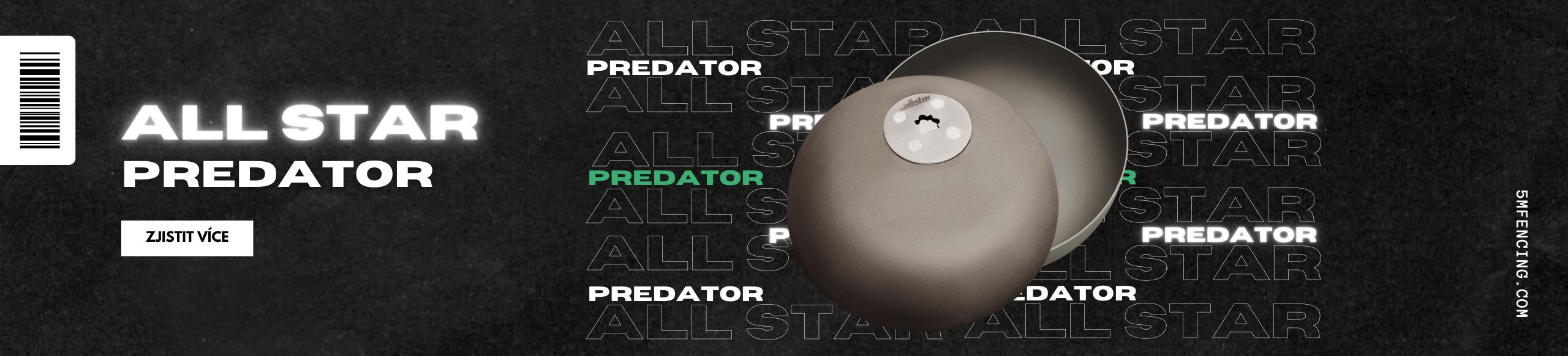 Nové exkluzivní číšky Allstar Predator pro kord, fleret i šavli