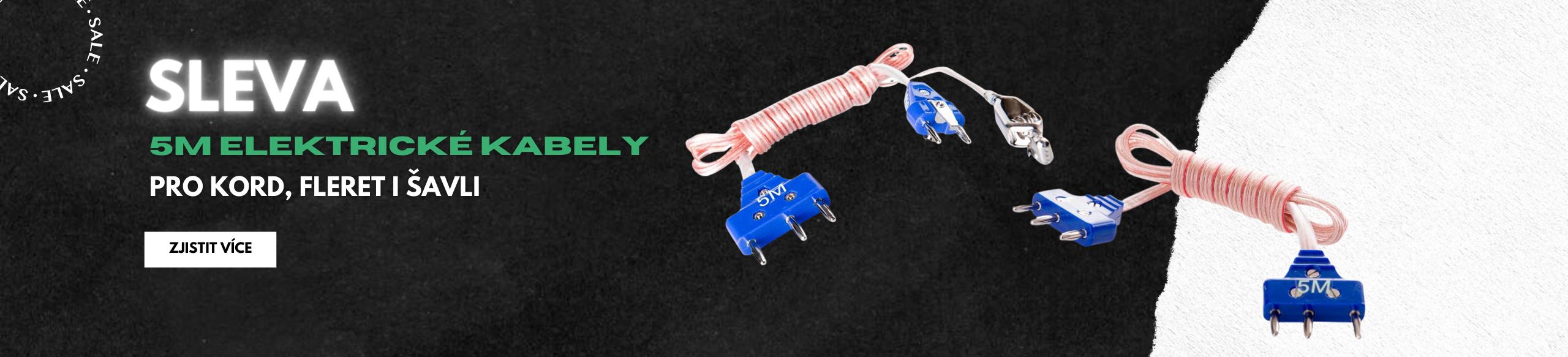 Výprodej elelktrických kabelů 5M pro kord, fleret i šavli