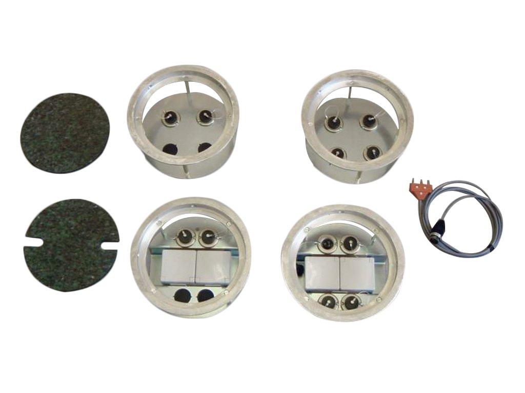 2286 podlahova pripojka s 1 pripojkou pro kabel