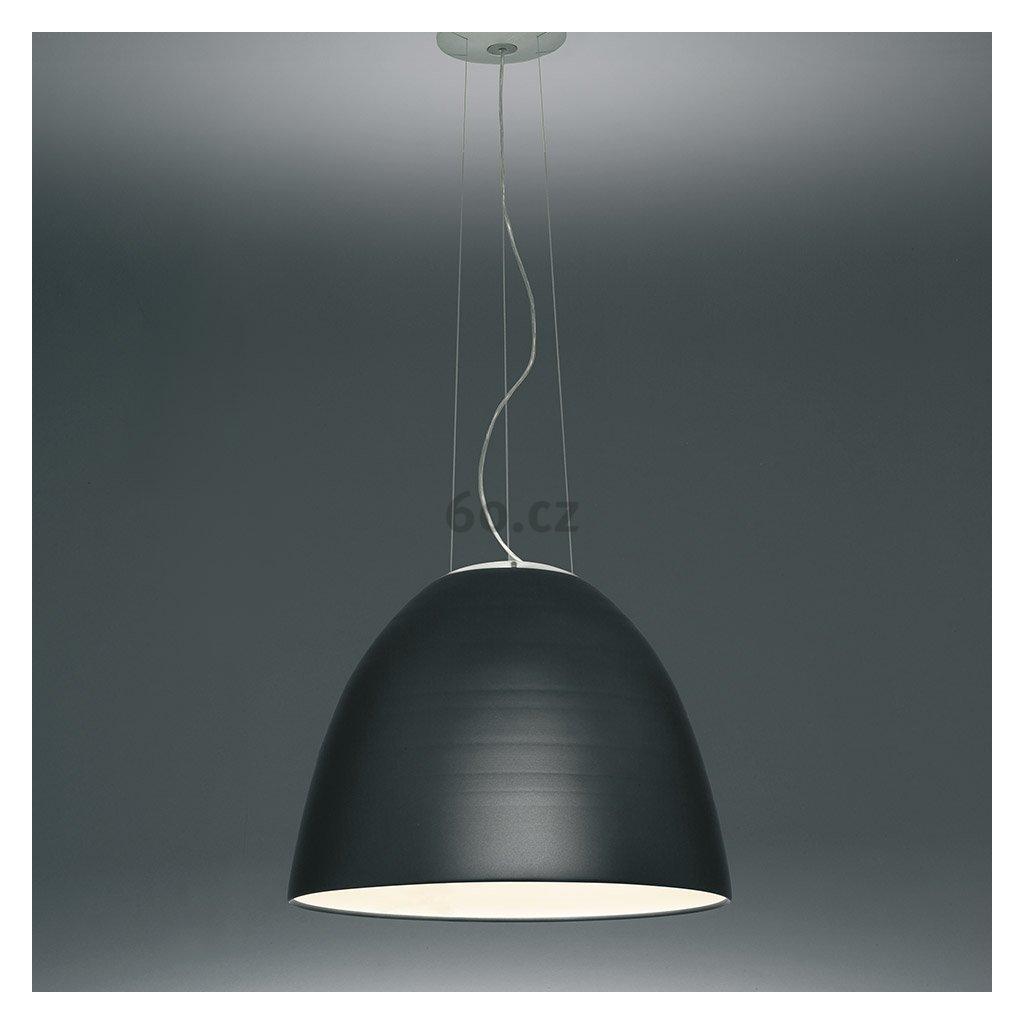Artemide Nur Halo Anthracite grey, závěsné svítidlo s nepřímým osvětlením, 1x205W E27, antracit, prům. 55cm