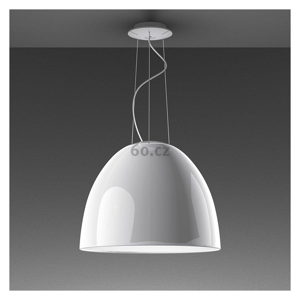 Artemide Nur Gloss Halo White , závěsné svítidlo v bílém lesku, 1x205W E27, prům. 55cm