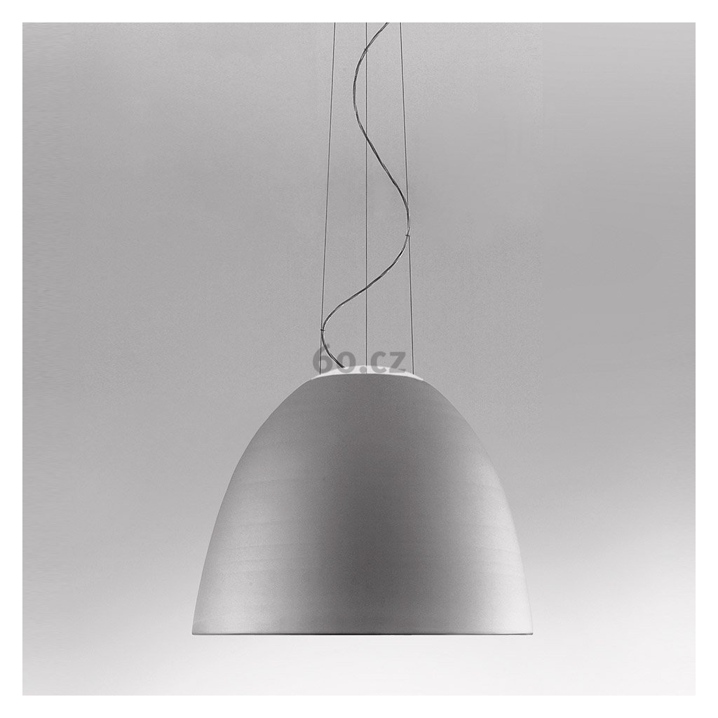 Artemide Nur LED Anodized aluminium, závěsné svítidlo s nepřímým osvětlením, 45W LED 2700K, hliník, prům. 55cm