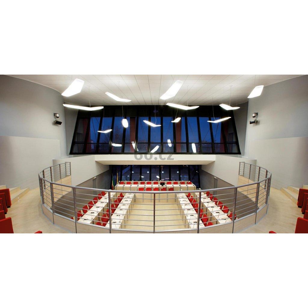 Artemide Mouette Symmetric 2500, závěsné designové svítidlo, 105W LED 3000K, 255cm, délka závěsu 590cm