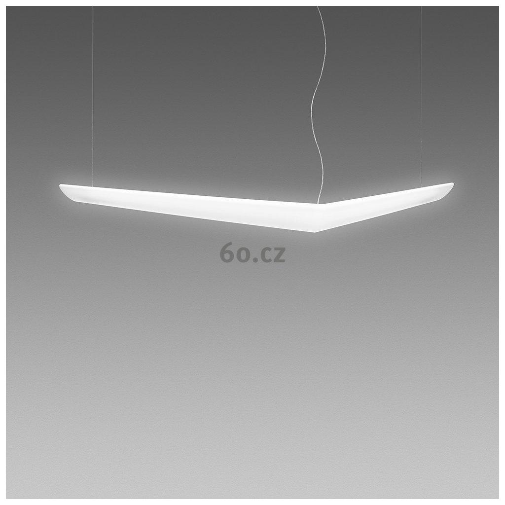 Artemide Mouette Asymmetrica, závěsné designové svítidlo, 80W LED 3000K, 195cm, délka závěsu 590cm