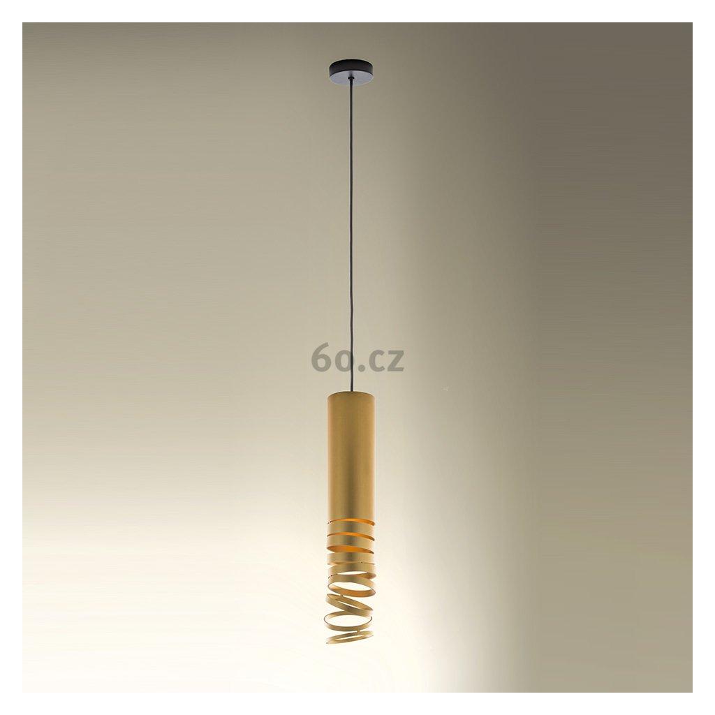 Artemide Decomposé Light, zlaté závěsné svítidlo, 1x8W E27, výška 60cm