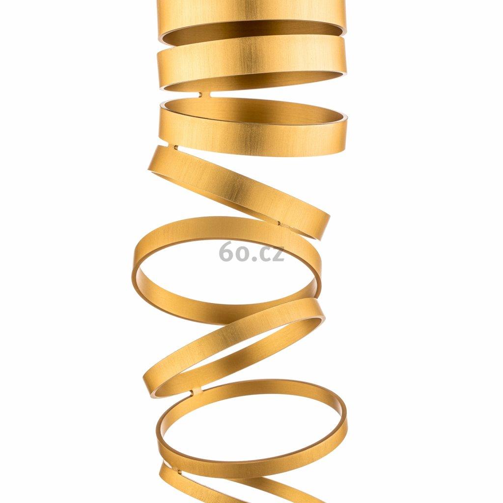 Artemide Decomposé Light, zlaté stropní svítidlo, 1x8W E27, výška 60cm