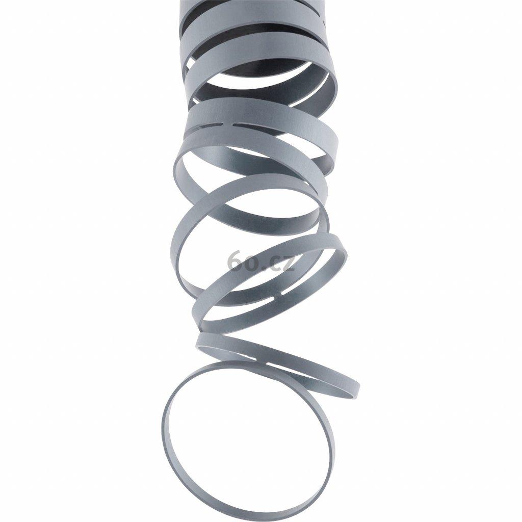 Artemide Decomposé Light, šedé stropní svítidlo, 1x8W E27, výška 60cm