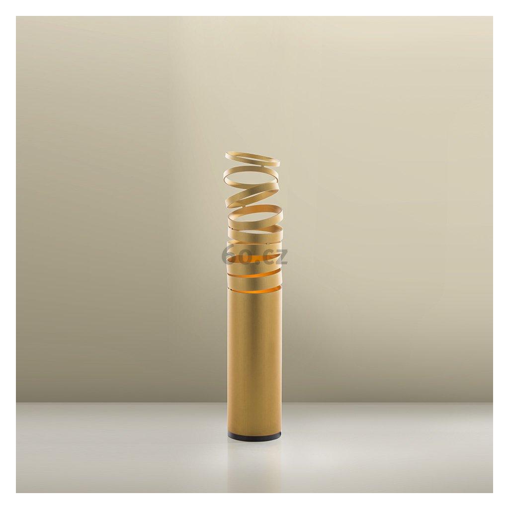 Artemide Decomposé Light, zlatá stolní lampička s vypínačem, 1x8W E27, výška 61cm