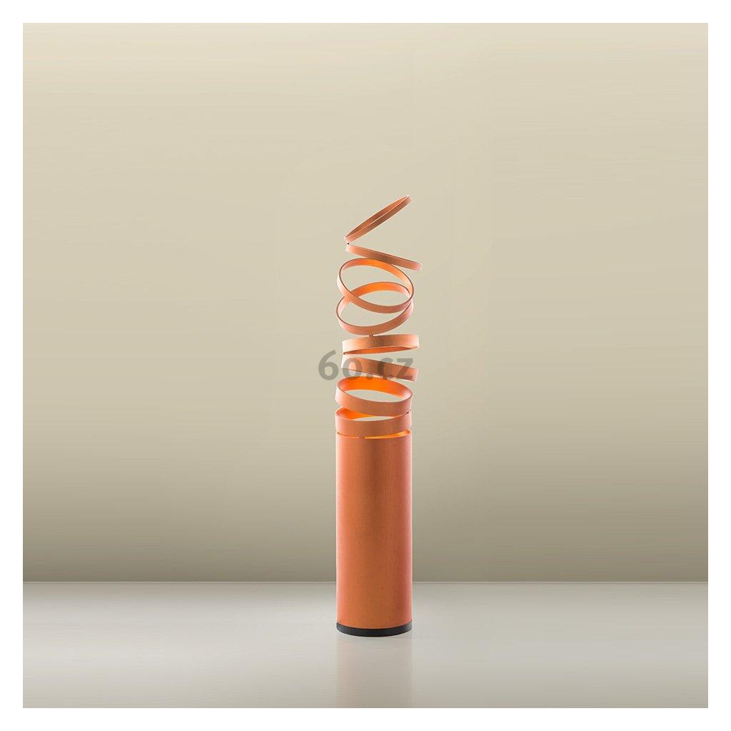 Artemide Decomposé Light, oranžová stolní lampička s vypínačem, 1x8W E27, výška 61cm