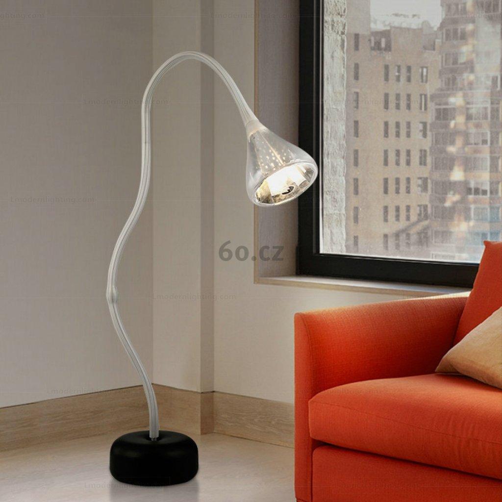 Artemide Pipe terra, flexibilní stojací lampa se stmívačem, 30W LED 2700K, max. výška 220cm