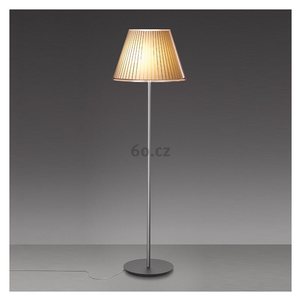Artemide Choose Mega terra, designová stojací lampa se stínítkem z pergamenu, 3x15W E27, 178cm