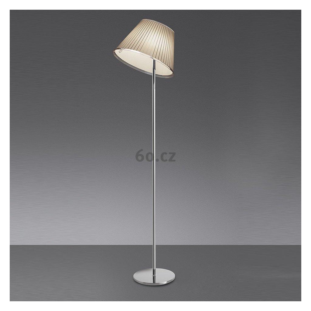 Artemide Choose terra, designová stojací lampa se stínítkem z pergamenu, 2x75W, 140cm