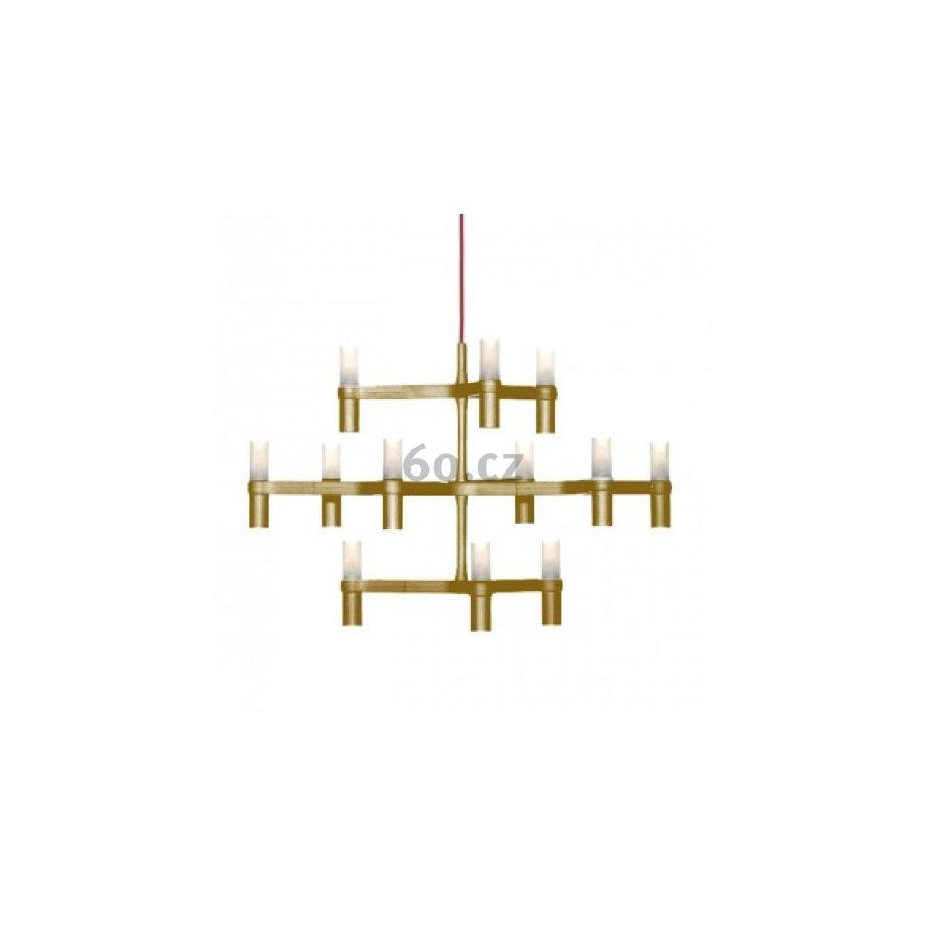 26094 3 nemo crown minor matne zlaty zavesny lustr 12x25w g9 67x77cm vyska 50cm