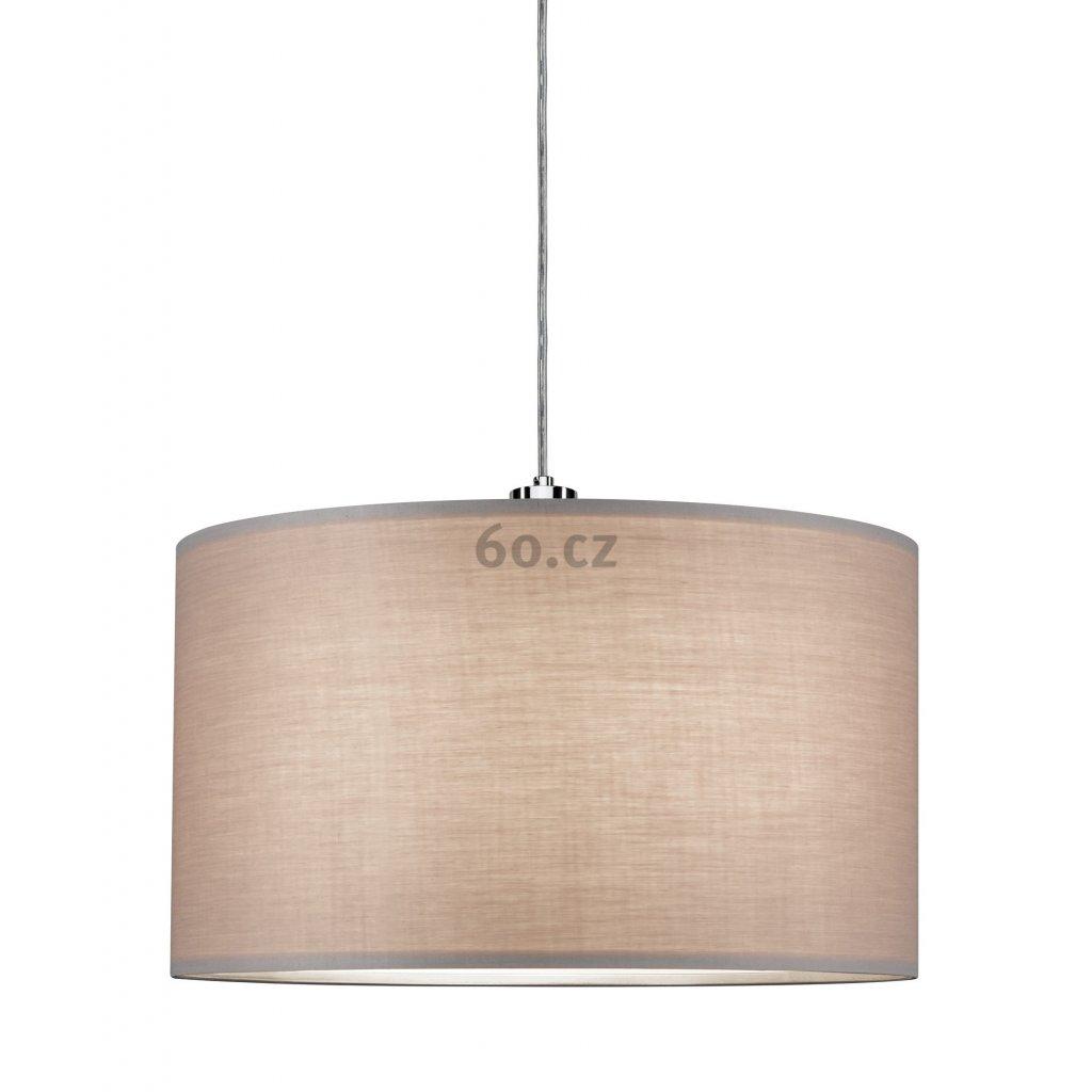 Paulmann Shade Tessa, stínítko pro 2Easy Basic Pendulum ze světle šedého textilu, prům. 45,4cm