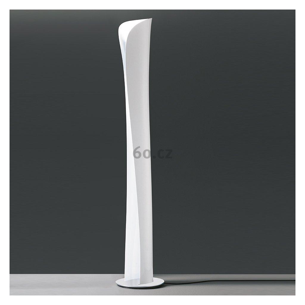 Artemide Cadmo, designová stojací lampa s bílou vnější a bílou vnitřní úpravou se stmívačem, 44W + 10W LED 3000K, výška: 174 cm