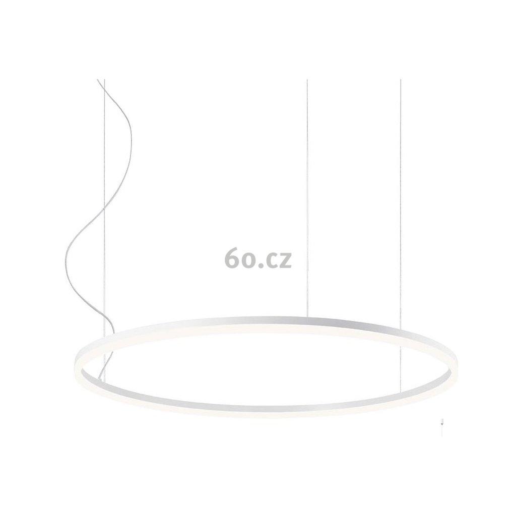 Redo Orbit direct, závěsné kruhové svítidlo, 55W LED 3000K, bílá, prům. 80cm