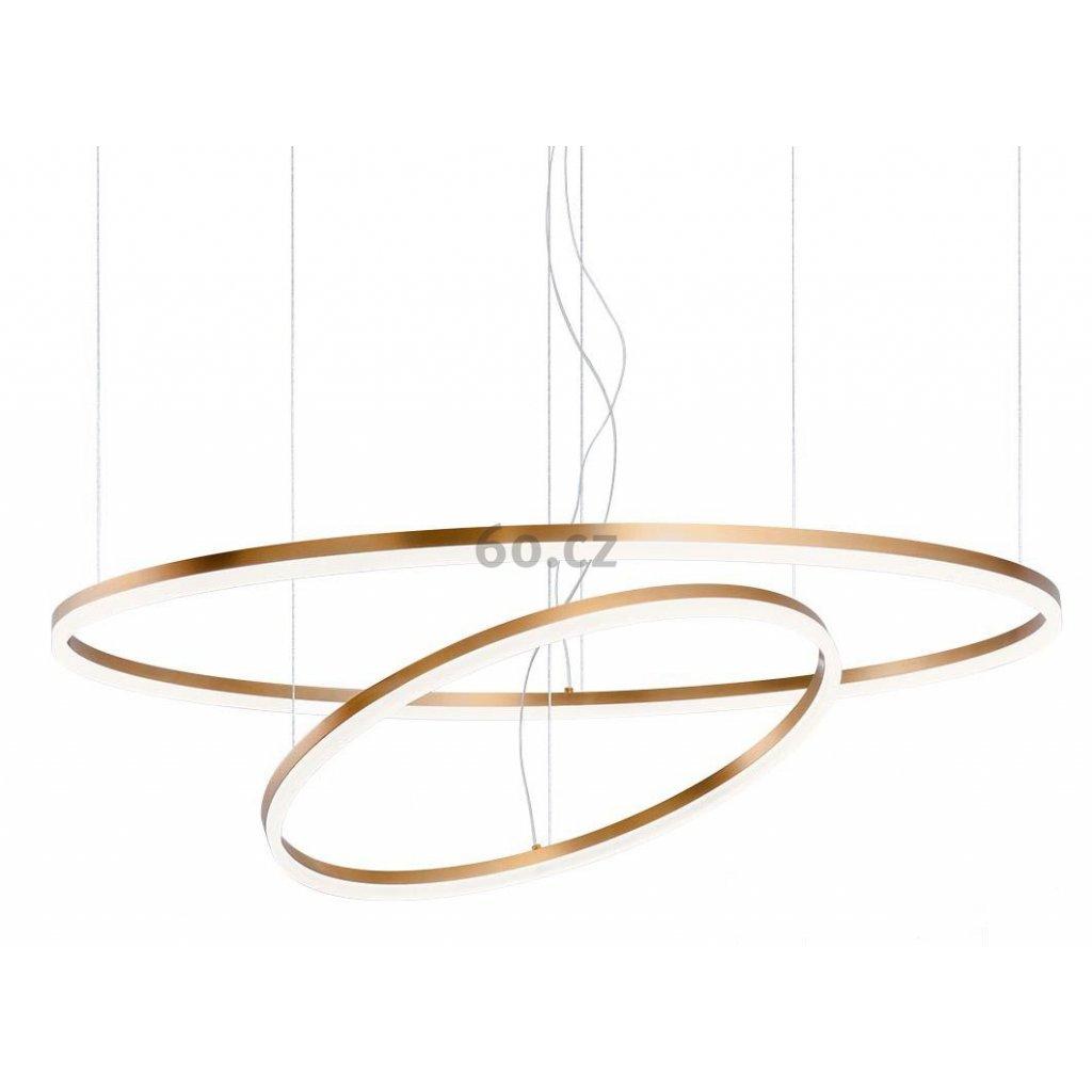 39291 3 redo orbit direct zavesne kruhove svitidlo 42 66w led 3000k bronz prum 60 100cm