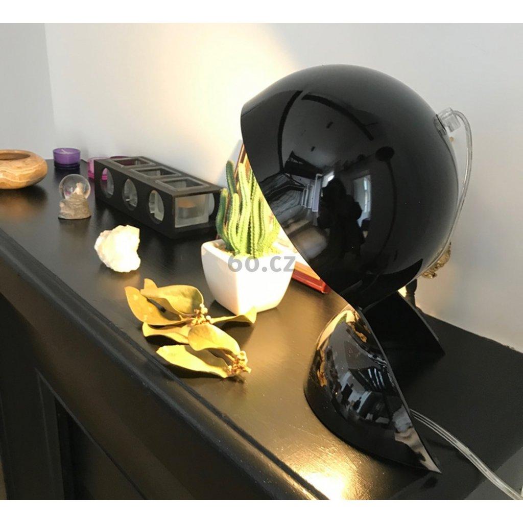 Artemide Dalú, černá designová stolní lampa, 1x28W, výška: 26 cm
