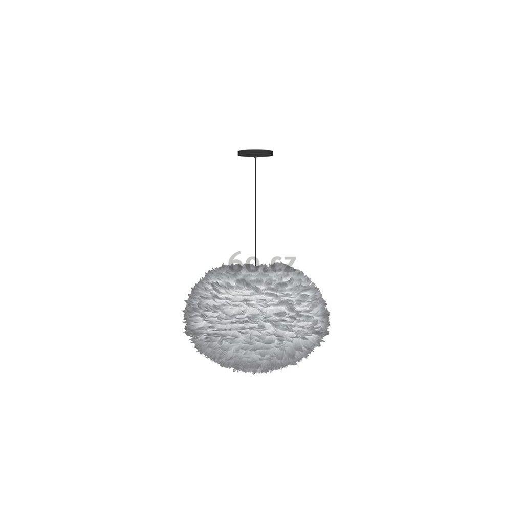 Umage Eos large, stínidlo ze světle šedého peří pro závěsné svítidlo, stolní a stojací lampu, 1x15W LED, prům. 65cm